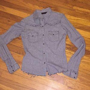 Hurley Tops - Hurley cowboy western buckle shirt top long sleeve